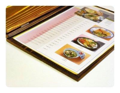 画像2: 【木製メニューブック】メニューブック用中紙ビニールケース(A4縦)