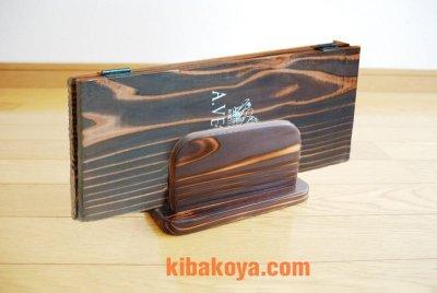 画像3: 【木製メニューブック】焼杉仕様 木製メニューブック立て(スタンド)