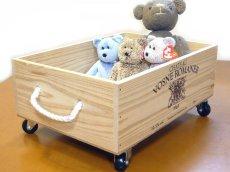 画像5: 【ばら売り可】【ワインボックス】ワイン木箱(ボックス)3段セット キャスター付き (5)