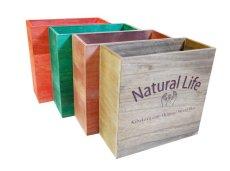画像3: 【桐製マガジンラック(Natural Life)】おしゃれな木の雑貨 オリジナルロゴ入り (3)