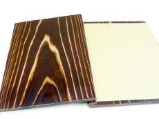 画像3: 【木製メニューブック】綴じ紐タイプ(A4,B5縦型):焼杉仕様 (3)