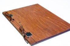 画像2: 【木製メニューブック】 綴じ紐タイプ(A4,B5縦型):合板カラー仕様 (2)