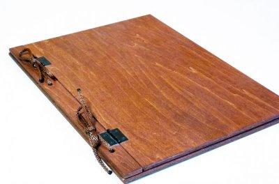 画像1: 【木製メニューブック】 綴じ紐タイプ(A4,B5縦型):合板カラー仕様