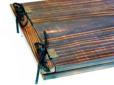 画像3: 【木製メニューブック】 綴じ紐タイプ(A4,B5横型):焼杉仕様 (3)
