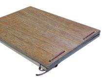 画像6: 【木製メニューブック】 綴じ紐タイプ(A4,B5横型):桐仕様(オーク塗装) (6)