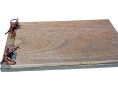 画像4: 【木製メニューブック】 綴じ紐タイプ(A4,B5横型):桐仕様(オーク塗装) (4)