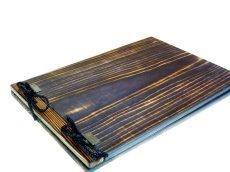 画像2: 【木製メニューブック】 綴じ紐タイプ(A4,B5横型):焼杉仕様 (2)