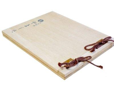 画像1: 【木製メニューブック】 綴じ紐タイプ(A4,B5横型):桐仕様(透明塗装)