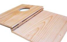 画像4: 【木製メニューブック】 綴じ紐窓穴タイプ(A4縦型):杉(透明) (4)
