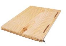 画像5: 【木製メニューブック】 綴じ紐窓穴タイプ(A4縦型):杉(透明) (5)