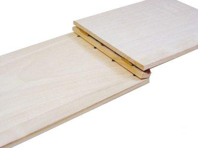 画像3: 【木製メニューブック】 綴じ紐タイプ(A4,B5横型):桐仕様(透明塗装)