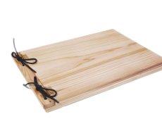 画像2: 【木製メニューブック】 綴じ紐タイプ(A4,B5横型):杉仕様(透明塗装) (2)