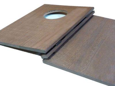 画像2: 【木製メニューブック】 綴じ紐窓穴タイプ(A4縦型):桐カラー仕様