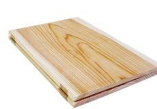 画像2: 【木製メニューブック】ちょう番見開きタイプ(A4,B5縦型):杉板仕様 (2)