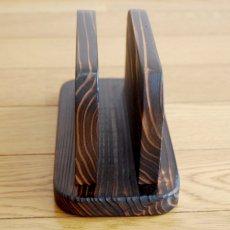 画像6: 【木製メニューブック】焼杉仕様 木製メニューブック立て(スタンド) (6)