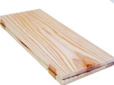 画像2: 【木製メニューブック】ちょう番見開き 縦長規定サイズ:杉仕様(透明) (2)
