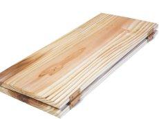 画像4: 【木製メニューブック】ちょう番見開き 縦長規定サイズ:杉仕様(透明) (4)