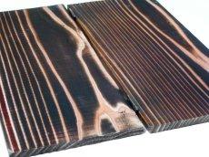 画像4: 【木製メニューブック】ちょう番見開き 縦長規定サイズ:焼杉仕様 (4)