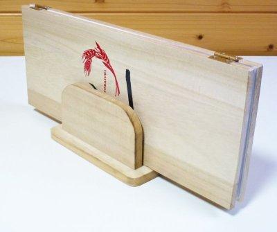 画像2: 【木製メニューブック】桐材仕様 木製メニューブック立て(スタンド) 色選択