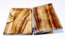 画像3: 【木製メニューブック】ちょう番見開き 縦長規定サイズ:焼桐仕様 (3)