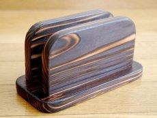 画像4: 【木製メニューブック】焼杉仕様 木製メニューブック立て(スタンド) (4)