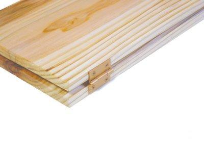 画像3: 【木製メニューブック】ちょう番見開き 縦長規定サイズ:杉仕様(透明)