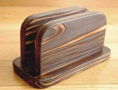 画像2: 【木製メニューブック】焼杉仕様 木製メニューブック立て(スタンド) (2)