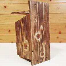 画像4: 【野鳥用巣箱】焼き杉 バードハウスB(上ふたタイプ)(縦型)巣箱(完成品) (4)