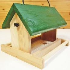 画像3: 【野鳥用餌台(バードフィーダー)】緑屋根がかわいい♪ バードフィーダーデラックス(完成品) (3)