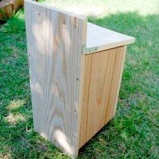 画像5: 【野鳥用巣箱】バードハウスB(上ふたタイプ)巣箱(完成品 無塗装) (5)