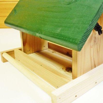 画像3: 【野鳥用餌台(バードフィーダー)】緑屋根がかわいい♪ バードフィーダーデラックス(完成品)