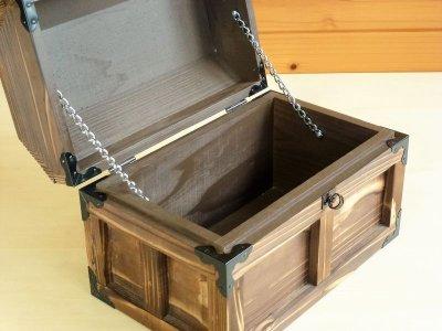画像3: 【海賊宝箱】デラックス海賊箱(中)三方飾り金具仕上げ