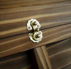 画像6: 【海賊宝箱】シンプル海賊箱(中サイズ フック金具) ロゴ、三方飾り金具なし (6)