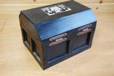 画像7: 【海賊宝箱】デラックス海賊箱(大)ブラック塗装 三方飾り金具仕上げ (7)