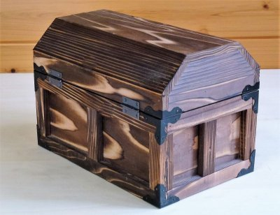 画像2: 【海賊宝箱】デラックス海賊箱(中)三方飾り金具仕上げ