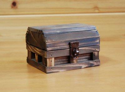 画像2: 【海賊宝箱】シンプル海賊箱(ミニサイズ)