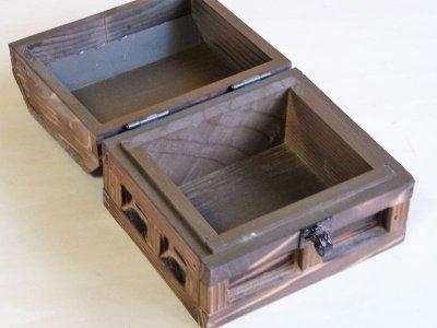 画像1: 【海賊宝箱】シンプル海賊箱(ミニサイズ)