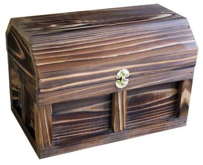 画像1: 【海賊宝箱】シンプル海賊箱(中サイズ フック金具) ロゴ、三方飾り金具なし