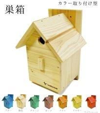 画像3: 【野鳥用巣箱:取り付け型】カラーバードハウスA (前扉タイプ)(完成品) お庭でバードウォッチング! (3)