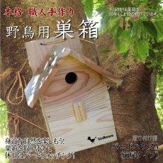 画像1: 【野鳥用巣箱】バードハウスA(前扉タイプ)巣箱(完成品 無塗装) (1)