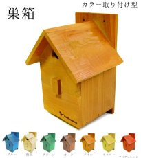 画像6: 【野鳥用巣箱:取り付け型】カラーバードハウスA (前扉タイプ)(完成品) お庭でバードウォッチング! (6)