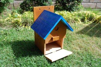 画像3: 【野鳥用巣箱:取り付け型】2色カラフルバードハウスA (前扉タイプ)(完成品) お庭でバードウォッチング!