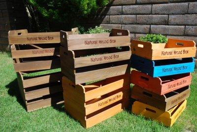 画像2: 【取手型】マルシェボックス インテリア木箱 店舗用什器 ディスプレイ用陳列箱 ベジタブルボックス トレー