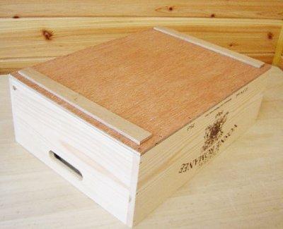 画像2: 【ばら売り可】【ワインボックス】ワイン木箱(ボックス)3段セット キャスター付き