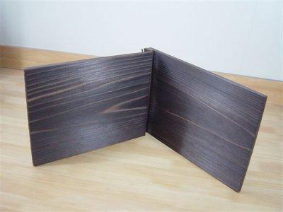 画像2: 【木製メニューブック】 綴じ紐タイプ(A4,B5横型):焼杉仕様