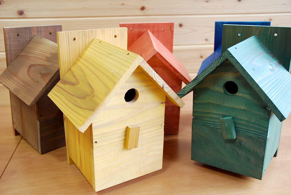 野鳥用巣箱 バードハウスA ナチュラルカラー(完成品)
