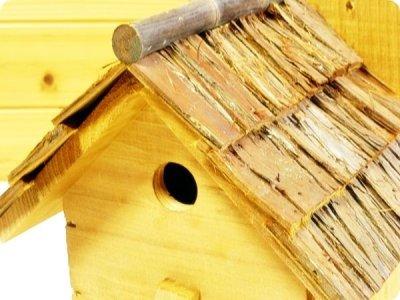 画像3: 【野鳥用巣箱】味のある職人手作り 杉皮屋根巣箱(完成品)
