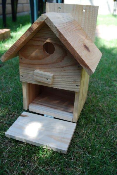 画像3: 【野鳥用巣箱】バードハウスA(前扉タイプ)巣箱(完成品 無塗装)
