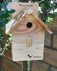 画像3: 【野鳥用巣箱】バードハウスA(前扉タイプ)巣箱(完成品 無塗装) (3)