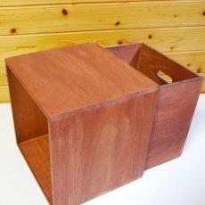 画像7: 【カラーキューブボックス:大サイズ 33cm 引き出しセット】収納ボックス 木製 オープン マルチラック キューブラック シェルフ 本棚 書棚 CDラック (7)